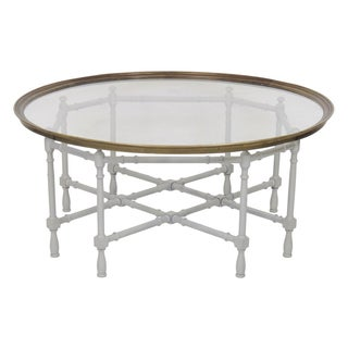 Faux Bamboo Painted Tray Top Coffee Table