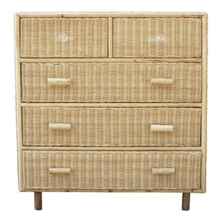 Modernist Wicker Dresser