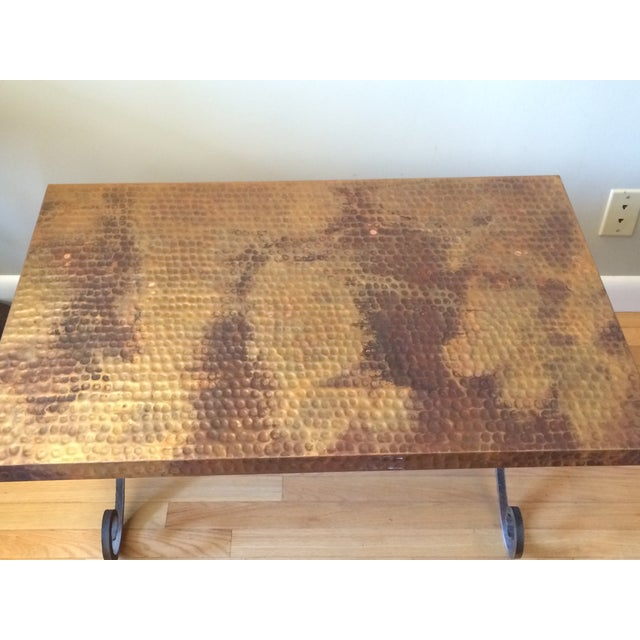 Hammered Copper Coffee Table Chairish
