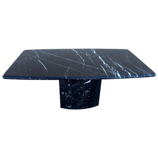 Black Modern Italian Marble Dining Table