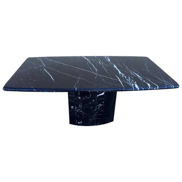 Black Modern Italian Marble Dining Table - Image 1 of 10