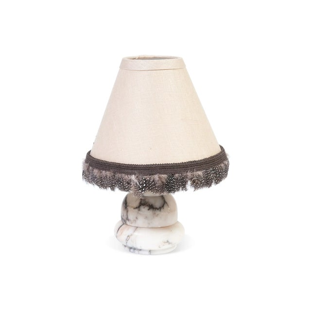 Image of Small Alabaster Desk Lamp