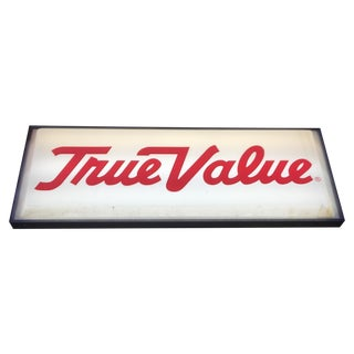 Large Vintage 'True Value' Reversible Lighted Sign