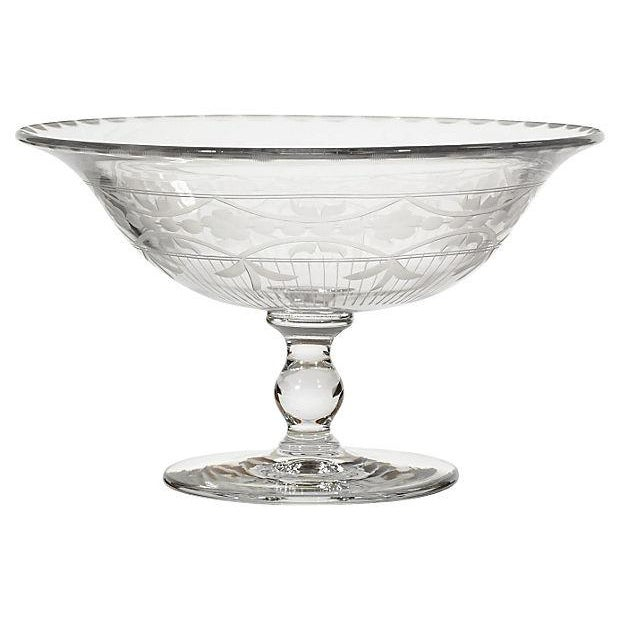 Image of Heisey Glass Co & Hawkes Cut Compote