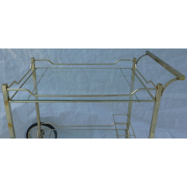Hollywood Regency Styled Bar Cart - Image 3 of 11