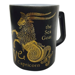 Vintage Black & Gold Zodiac Coffee Cup Mug