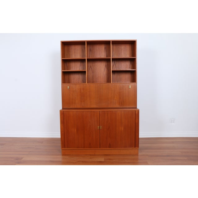 Danish Teak Secretary Tambour Desk by Peter Lovig - Image 2 of 5
