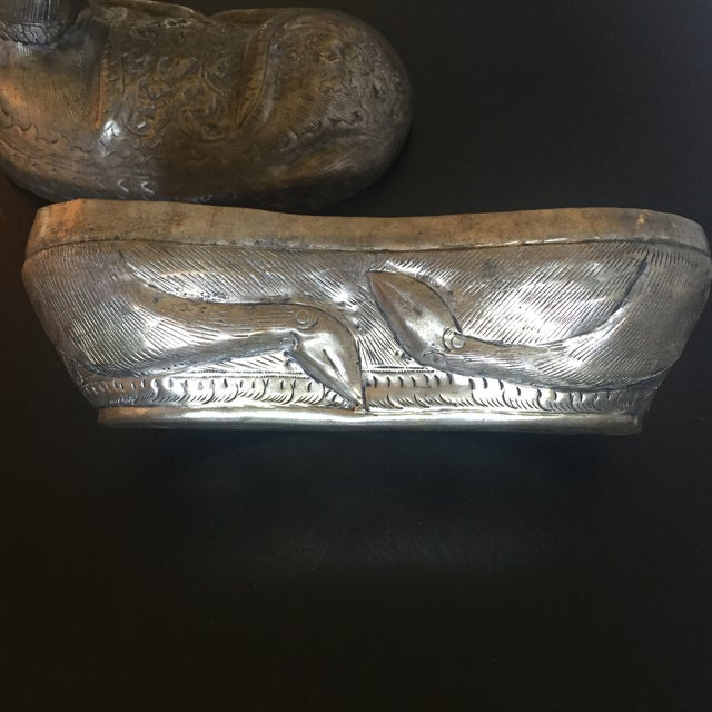 Antique Silver Cambodian Deer Box - Image 11 of 11