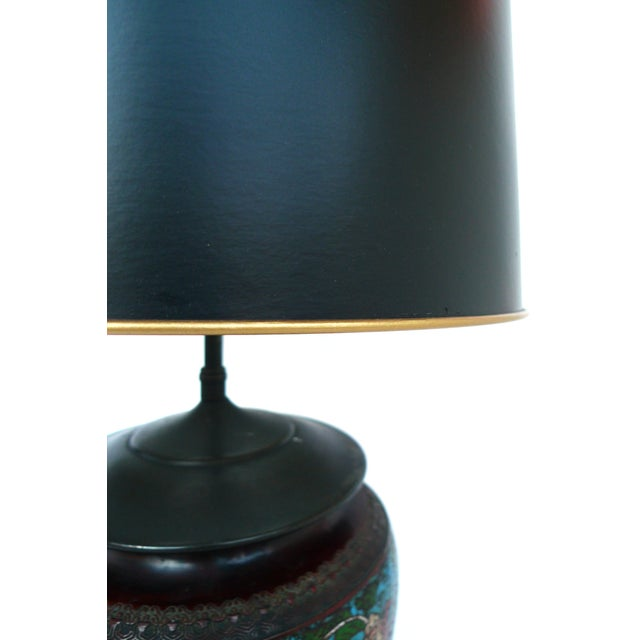 Image of Japanese Champlevé Bronze Table Lamp