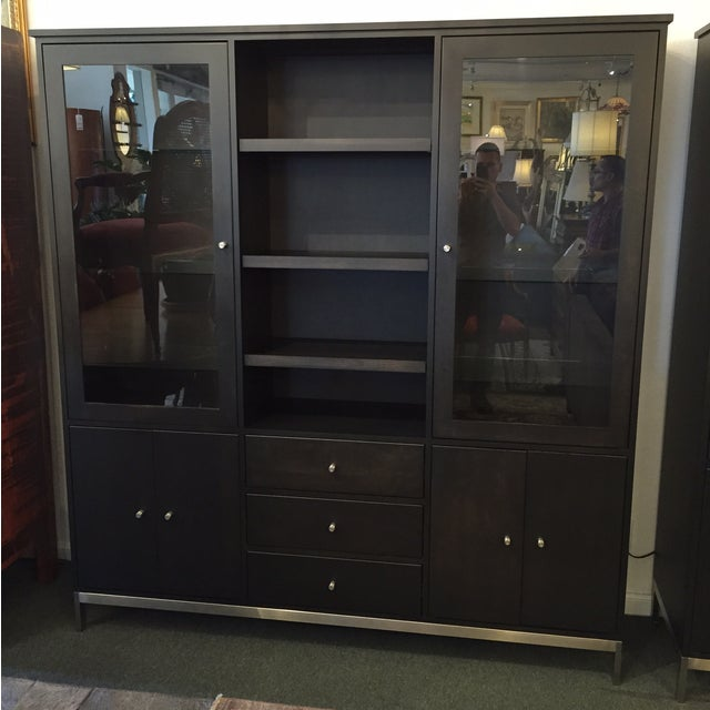 Room & Board Linear Charcoal Custom Cabinetry - Image 2 of 9