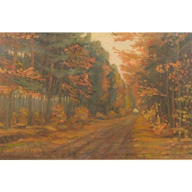 Framed Dutch Impressionist Autumn Landscape - Image 6 of 6