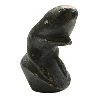 Vintage Carved Stone Otter Inuit Eskimo