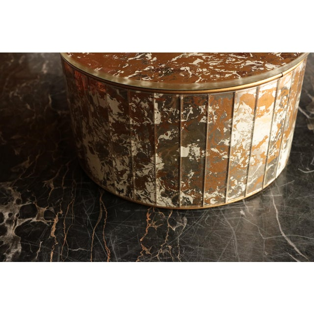 Marbled Golden Swirl Mirrored Box - Image 9 of 10