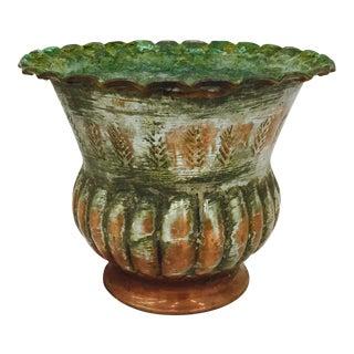 Antique Indian Etched Copper Vase