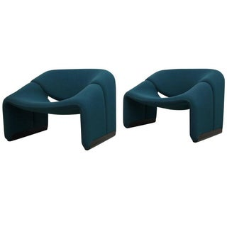 Pierre Paulin Artifort F598 Groovy Chairs - Pair