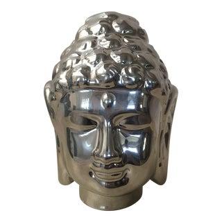 Silver Porcelain Hamsa Buddha Statue