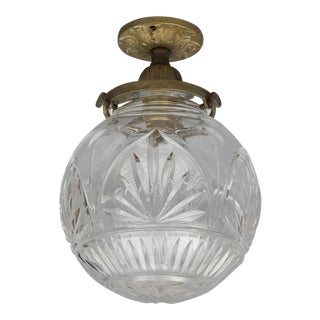 Cut-Glass Ceiling Light