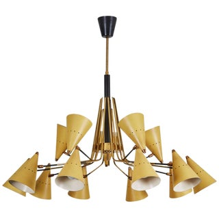 Chandelier with Articulating Shades by Stilnovo