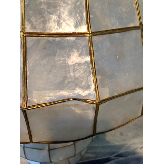 Large Scale Mid Century Capiz Shell Table Lamp - Image 5 of 7