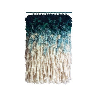 Furry Mint Dreams Woven Wall Hanging