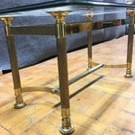 Image of Hollywood Regency Brass & Glass Coffee Table
