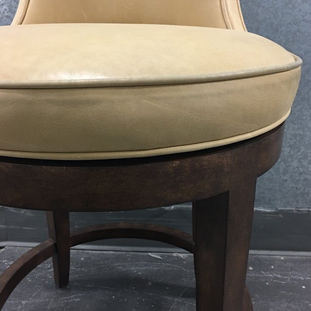 New Pearson Savannah Leather Swivel Counter Stool - Image 7 of 7