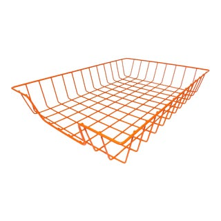 Orange Wire Desk Organizer