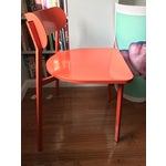Image of CB2 Fleet Orange Metal Chair