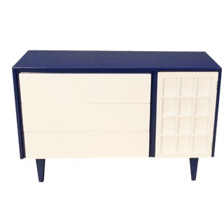 Lacquered Mid-Century Dresser & Cabinet