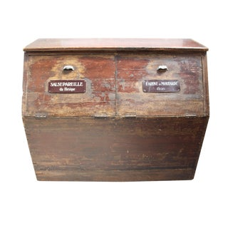 19th-C. French Flour Bin