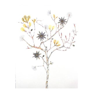 "Marilla Palmer ""Passionflower, Iris and Bee Balm"""