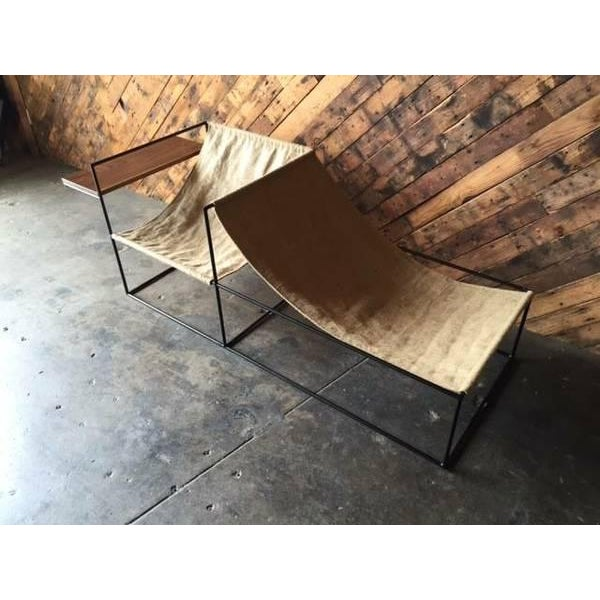 Modern Wrought Iron Chair Lounger - Image 5 of 6