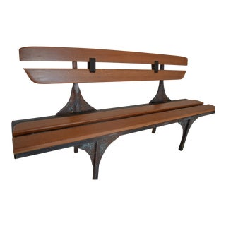Iron & Patina Paul Evans-Style Bench