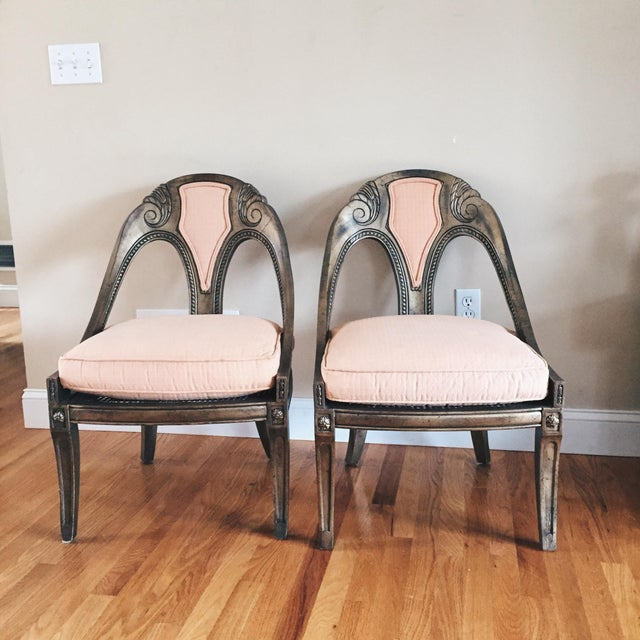 Antique French Style Upholstered Cane Chairs - A Pair - Image 7 of 7