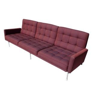 Florence Knoll Burgundy Sofa