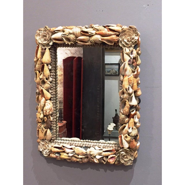 Image of Vintage Shell Mirror From Hawaii