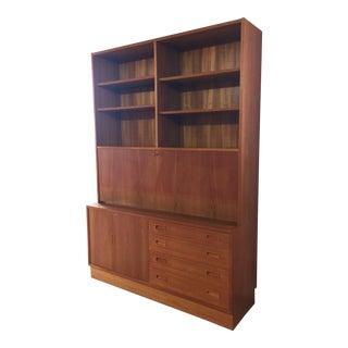 Poul Hundevad Danish Modern Teak Credenza Bookcase Desk