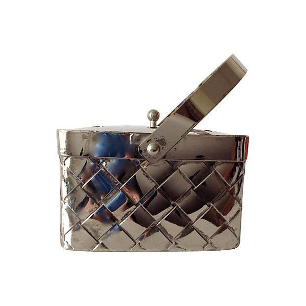Silverplate Woven Basket Vase - Image 6 of 7