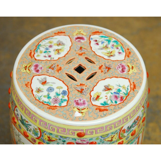 Chinese Hand-Painted Porcelain Garden Stool - Image 2 of 5