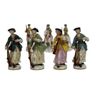 Meissen Porcelain Huntresses Figurines - Set of 7