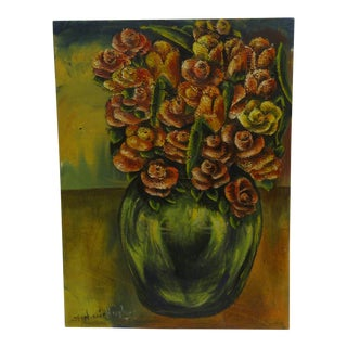 "Stephanie Hughes ""Flower Pot"" Original Painting on Board"