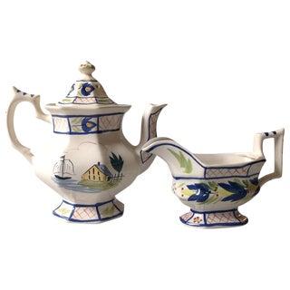 Bruce Stebner Creamer & Teapot