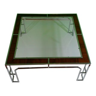 Milo Baughman for Thayer Coggin Chrome Square Coffee Table