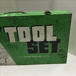Image of Vintage Handy Andy Green Tool Set Box