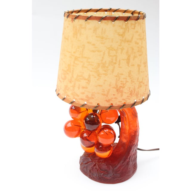 Lucite Grape Cluster Table Lamp - Image 3 of 6
