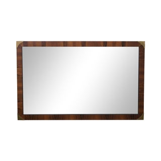 Rosewood Campaign Style Rectangular Wall Mirror