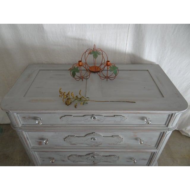 Image of Vintage Wood 3 Drawer Accent Chest
