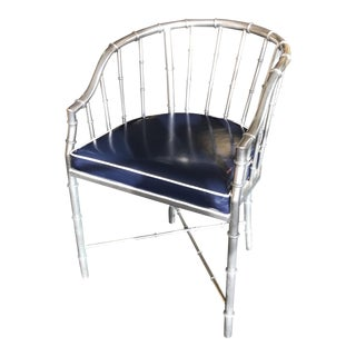 Silver Metal Bamboo Chair