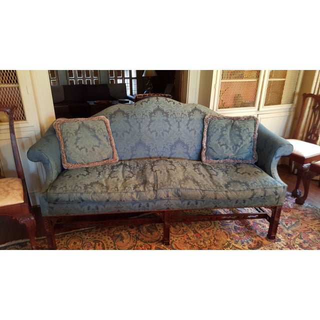 Pair Of Henredon Natchez Chinese Chippendale Sofas Chairish