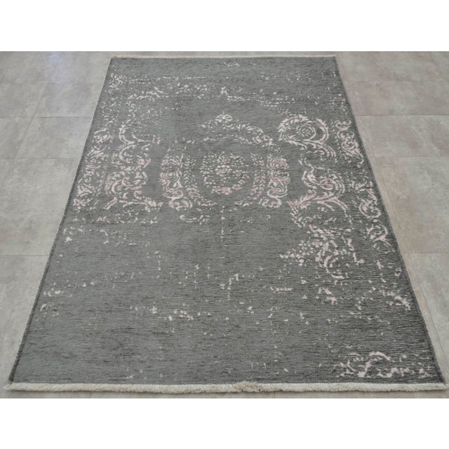 Gray Overdyed Turkish Rug - 3′11″ X 5′11″ - Image 5 of 9